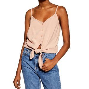🛍2/$30🛍 TOPSHOP Polly Tie Front Camisole